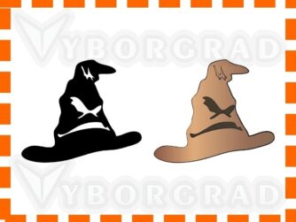 Potter Sorting Hat vector clipart SVG AI PNG